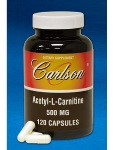 Carlson Labs Acetyl L-Carnitine 500mg 120 caps