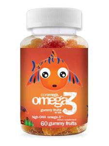 Coromega omega3 for kids 60 gummies for Fish oil for toddlers