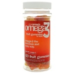 Coromega DHA Omega-3 Adult Gummy Fruits 60 Gummies