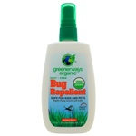 Greenerways Organic Bug Repellent Spray USDA Certified 100% Organic 4 Ounces