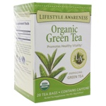Organic Green Tea by Lifestyle Awareness Teas 20 Tea Bags
