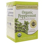 Organic Peppermint by Lifestyle Awareness Teas 20 Tea Bags