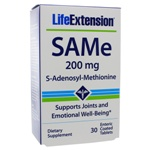 Life Extension SAMe 200mg Blister Pack 30 Tablets