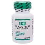 BHI Mucus Relief by BHI Homeopathics/Medinatura 100 Tablets