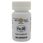 Fe-20 by Bio-Tech Pharmacal 100 Capsules