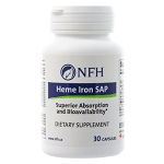 Heme Iron SAP by Nutritional Fundamentals for Health 30 Capsules