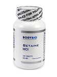 BodyBio/E-Lyte Betaine HCl 324 mg 100 tabs