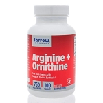 Arginine + Ornithine 750mg by Jarrow Formulas 100 Capsules