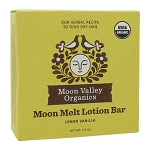 Moon Melt Lotion Bar Lemon Vanilla by Moon Valley Organics 1.9oz