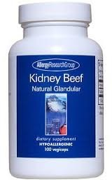 Allergy Research Group Kidney Beef Natural Glandular 100c