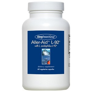 Aller-Aid L-92 with L. acidophilus L-92 by Allergy Research 60 Capsules
