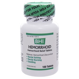 BHI Hemorrhoid by BHI Homeopathics/Medinatura 100 Tablets