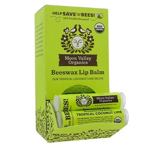 Beeswax Lip Balm Tropical Coconut Lime by Moon Valley Organics 1 Lip Balm