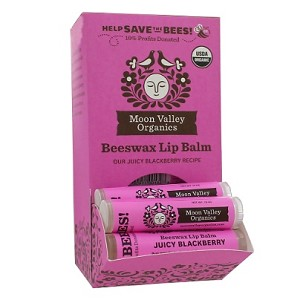 Beeswax Lip Balm Juicy Blackberry by Moon Valley Organics 1 Lip Balm