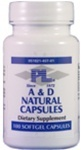 Progressive Labs A & D Natural Capsules 100sg