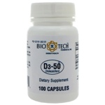 Bio-Tech Pharmacal D3-50 50,000IU 100 Capsules