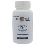 Bio-Tech Pharmacal D3 1,000IU 250 Capsules