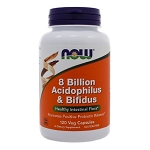 8 Billion Acidophilus & Bifidus by NOW Foods 120 Capsules