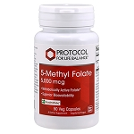 5-Methyl Folate 500mcg by Protocol for Life Balance 50 Capsules