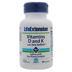 Vitamins D and K with Sea-Iodine by Life Extension 60 Capsules