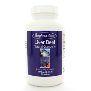 Allergy Research Group Liver Beef Glandular 500mg 125c