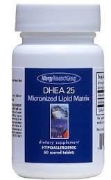 Allergy Research Group DHEA 25mg Micronized Lipid Matrix 60t